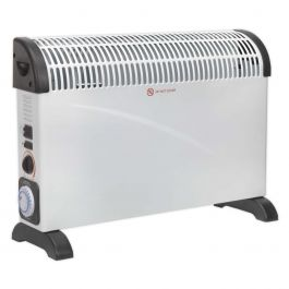 Sealey CD2005TT 2kW Convector Heater With Fan & Timer 230v