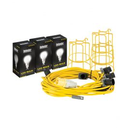 Defender 22m LED Festoon Kit ES Fitting 110V