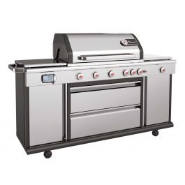 Landmann Triton MAXX PTS+ 6.1+ Six Burner Stainless Steel Gas BBQ