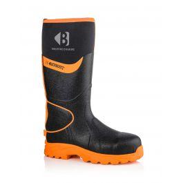 Buckler BBZ8000 Buckbootz Hi-Viz Full Safety Wellies Neoprene Lined Black/Orange S5 HRO CI HI AN SRC