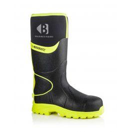 Buckler BBZ8000 Buckbootz Hi-Viz Full Safety Wellies Neoprene Lined Black/Yellow S5 HRO CI HI AN SRC