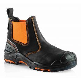 Buckler Buckz Viz BVIZ3 Hi-Viz Orange Full Safety Dealer Boots Black