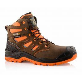 Buckler Buckz Viz BVIZ2 Hi-Viz Orange Full Safety Boots Brown