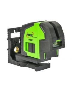 Imex LX22G Cross Line Laser Level With Green Beam With Carry Case
