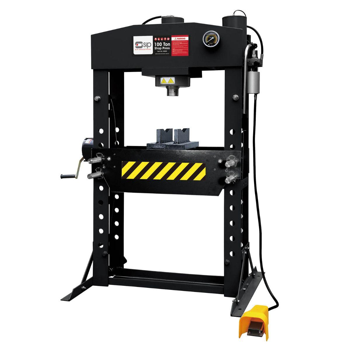 SIP 100 Ton Pneumatic Hydraulic Shop Press