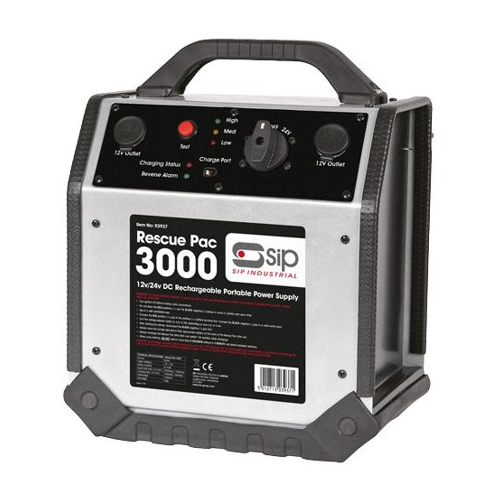 SIP Rescue Pac 3000 12/24v 1200 / 3000 Amp Emergency Pack