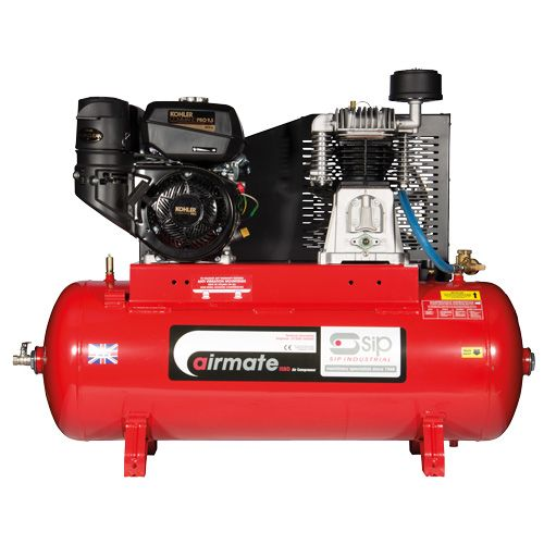 SIP Airmate Industrial Petrol Air Compressors Recoil Start - Kohler