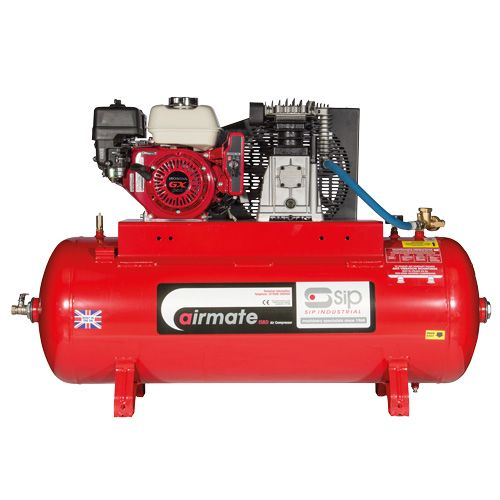 SIP Airmate Industrial Petrol Air Compressors Electric Start - Honda