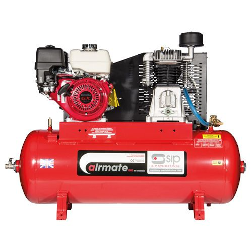 SIP Airmate Industrial Petrol Air Compressors Recoil Start - Honda