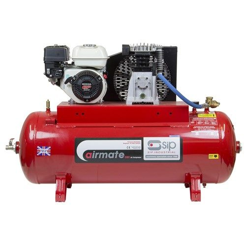 SIP Airmate Industrial Petrol Air Compressors Recoil Start - Honda GP