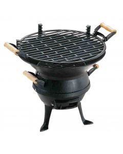 Landmann Grill Chef Cast Iron Barrel Charcoal BBQ