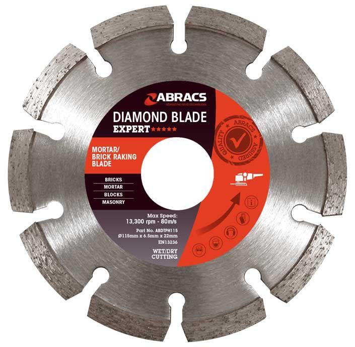 Abracs Expert Diamond Brick Mortar Raking Blades