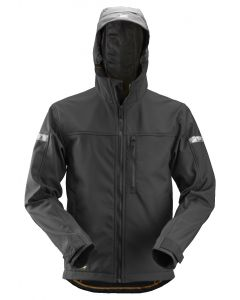 Snickers 1229 Hooded Softshell Jacket Black
