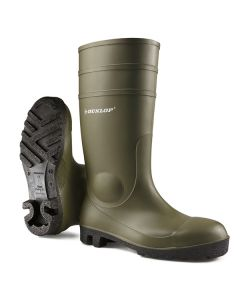 Dunlop Protomastor Full Safety Wellington Boots Green