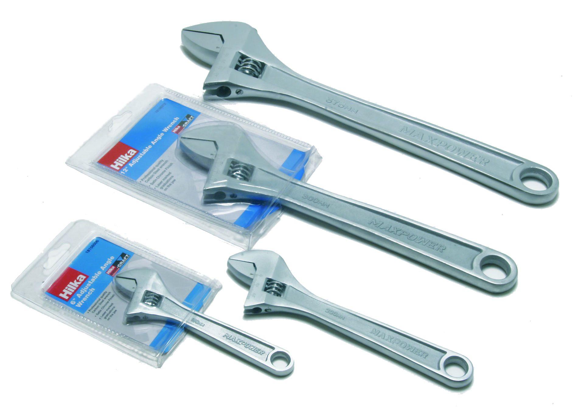 Hilka Pro Craft Satin Finish Adjustable Wrenches