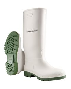 Dunlop Pricemastor Non-Safety Wellington Boots White