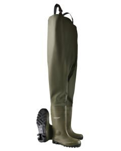 Dunlop Protomastor Full Safety Chest Wader Green