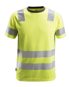 Snickers 2530 Allround Work High-Vis T-Shirt Class 2 Yellow