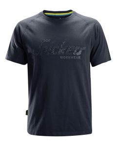 Snickers 2580 Logo T-Shirt Navy