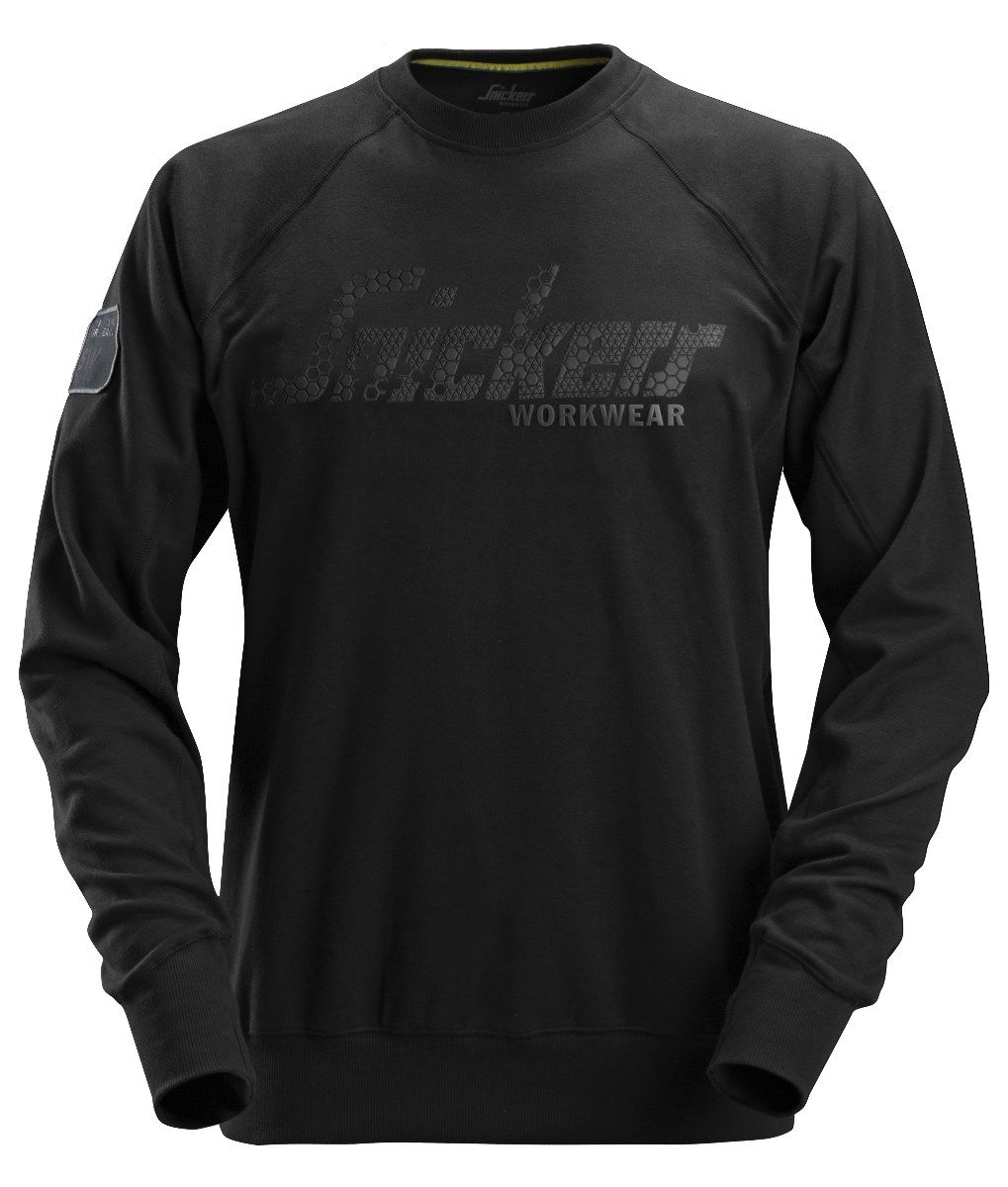 Snickers 2882 Logo Sweatshirt Black