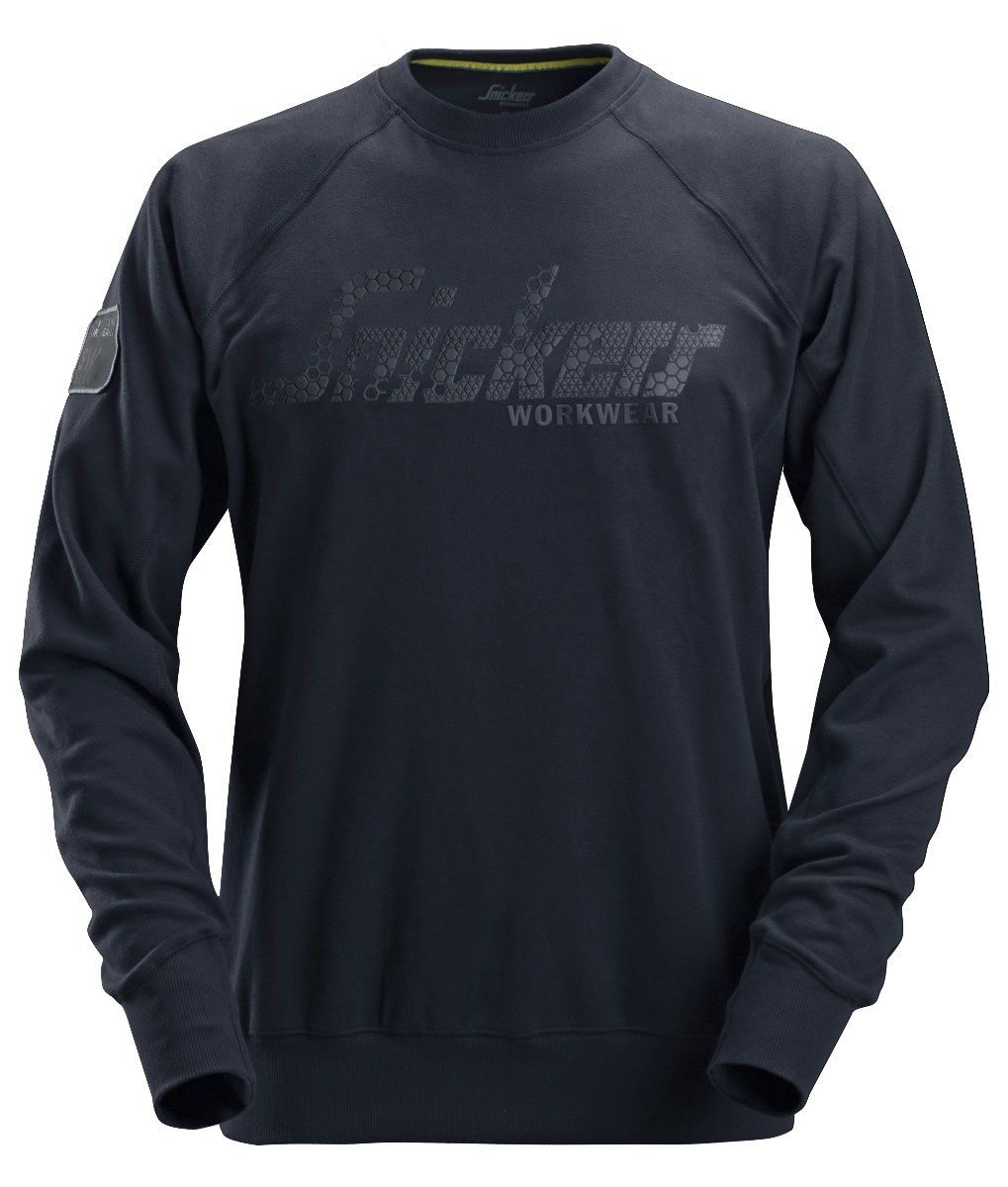 Snickers 2882 Logo Sweatshirt Navy