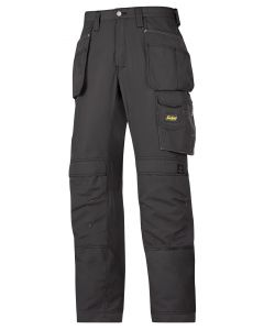Snickers 3213 Craftsmen Holster Pocket Rip-Stop Trousers Black