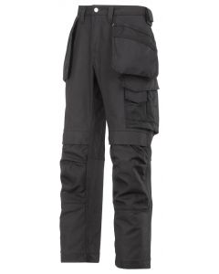 Snickers 3214 Canvas Craftsmen Holster Pocket Trousers Black