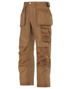 Snickers 3214 Canvas Craftsmen Holster Pocket Trousers Brown