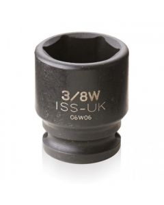 """ISS 3/8"""" Drive Whitworth 6 Point Impact Sockets"""