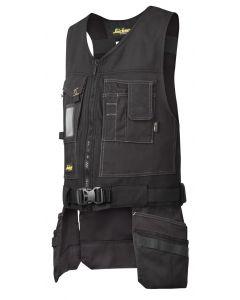 Snickers 4254 Canvas Tool Vest Waistcoat Black