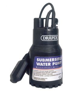 Draper 120L/Min 200W 110V Submersible Water Pump with 6M Lift and Float Switch