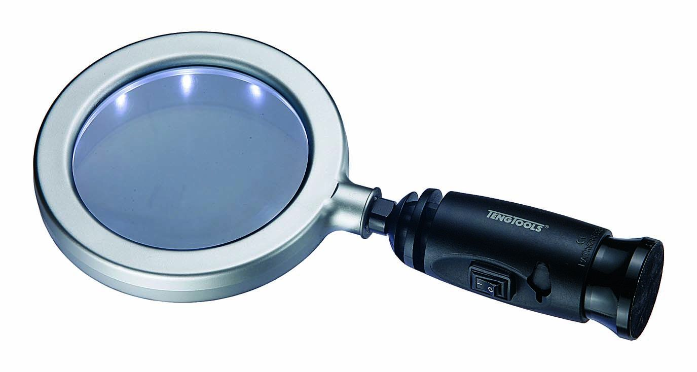 "Teng Tools 4"" Magnifying Glass With Led Light"