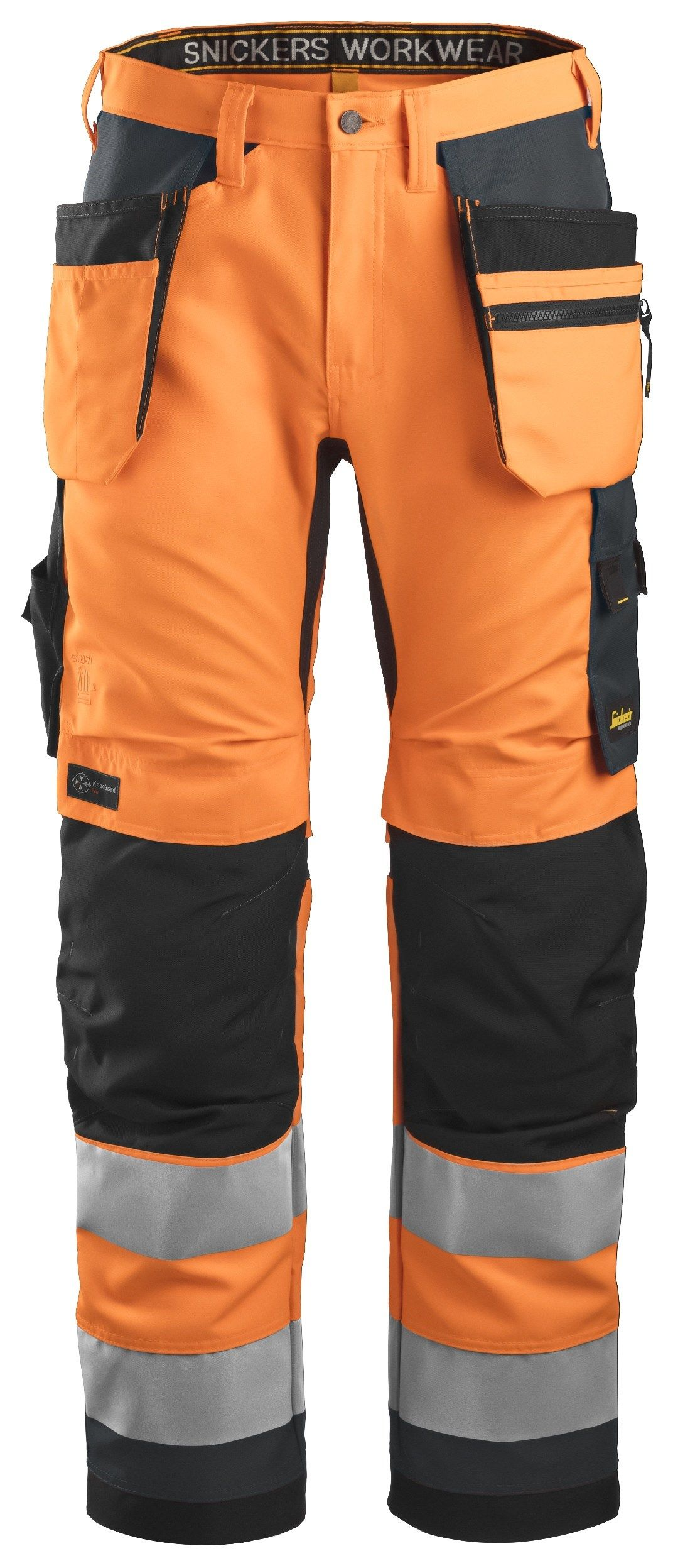 Snickers 6230 Allround Work High-Vis Work Trousers Holster Pockets+ Class 2 Orange