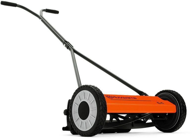Husqvarna 64 Manual Push-Along Hand Lawn Mower 40cm