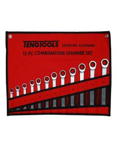 Teng Tools 12 Piece Ratchet Spanner Set In A Wallet 8-19mm