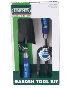 Draper 2 Piece Carbon Steel Heavy Duty Hand Fork and Trowel Set