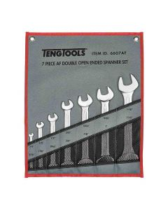 Teng Tools AF Double Open End Spanner Set 7 Piece