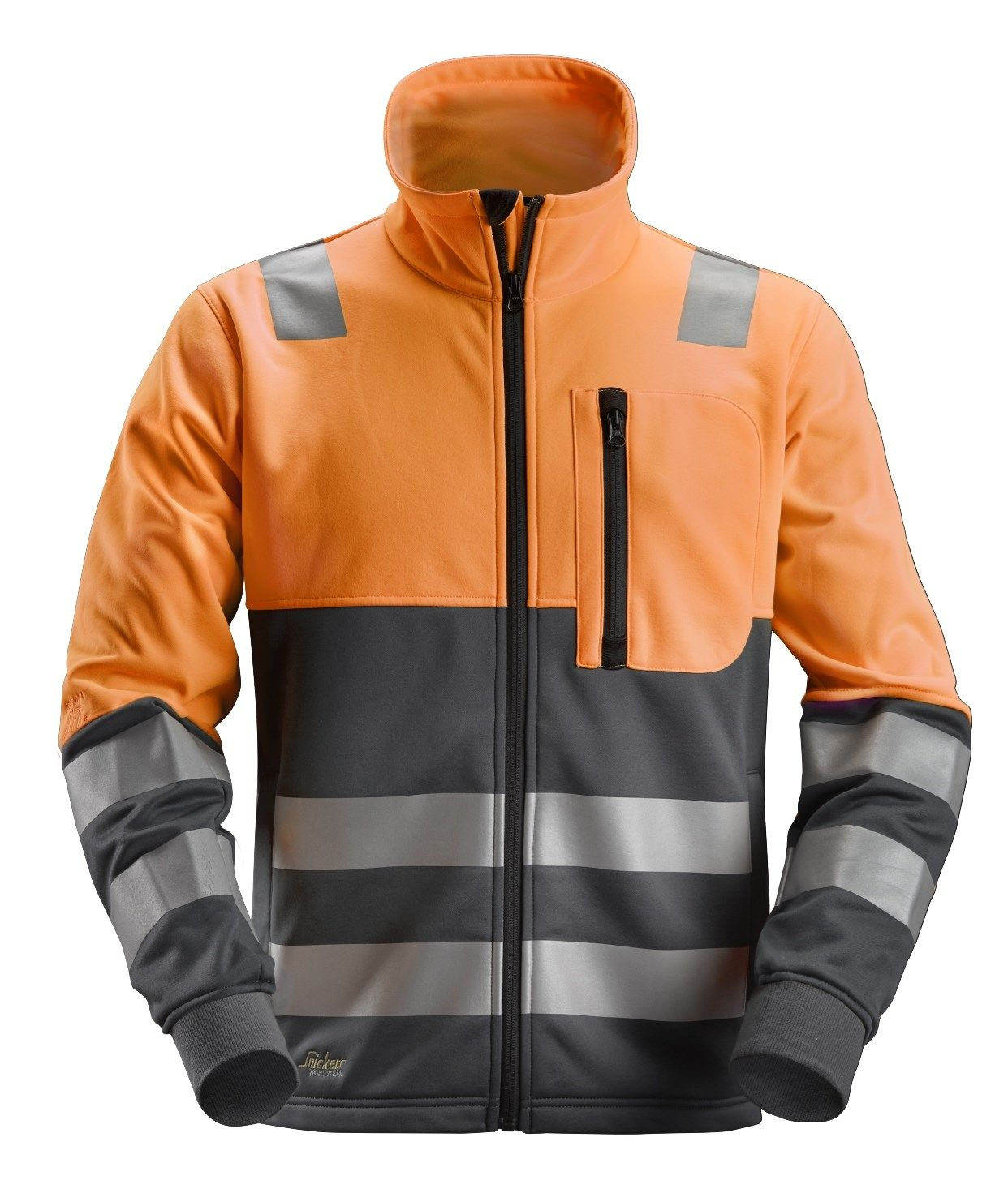 Snickers 8035 Allround Work High-Vis FZ Jacket Class 2 Orange