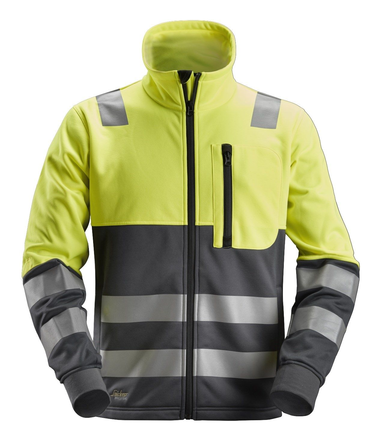 Snickers 8035 Allround Work High-Vis FZ Jacket Class 2 Yellow
