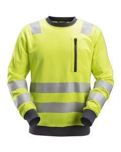 Snickers 8037 Allround Work High-Vis Sweatshirt Class 2 / Class 3 Yellow