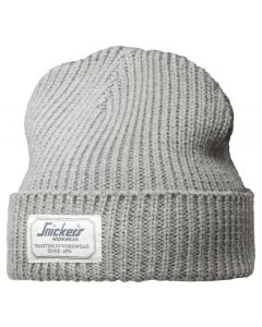 Snickers 9023 AllroundWork Fisherman Beanie Hat Grey One Size