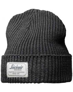 Snickers 9023 AllroundWork Fisherman Beanie Hat Dark Grey One Size