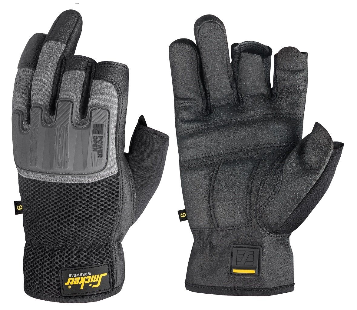 Snickers 9586 Power Open Gloves Black