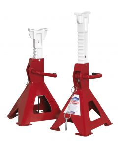Sealey Axle Stands (Pair) 3tonne Capacity per Stand Auto Rise Ratchet