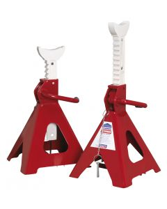 Sealey Axle Stands (Pair) 5tonne Capacity per Stand Auto Rise Ratchet