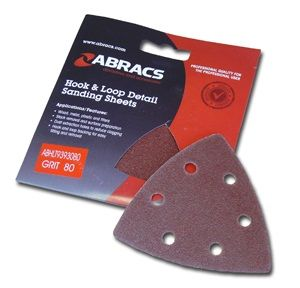 Abracs Hook & Loop Triangle Sanding Pads