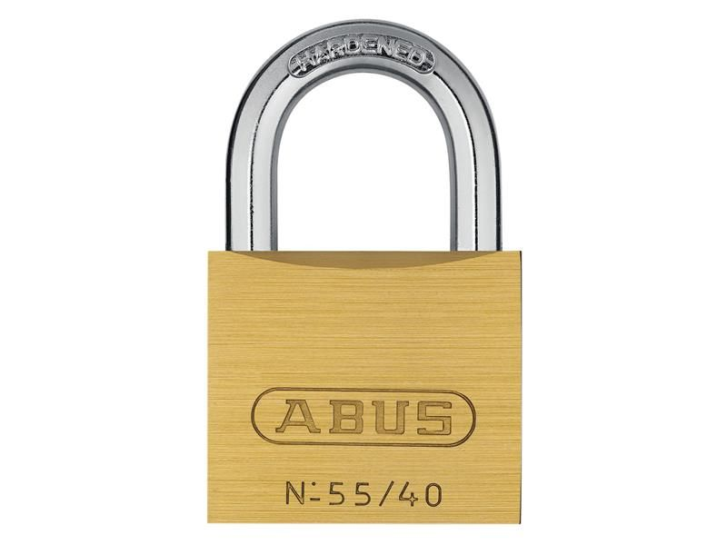 ABUS Mechanical 55/40 40mm Brass Padlock With Key No. 5401