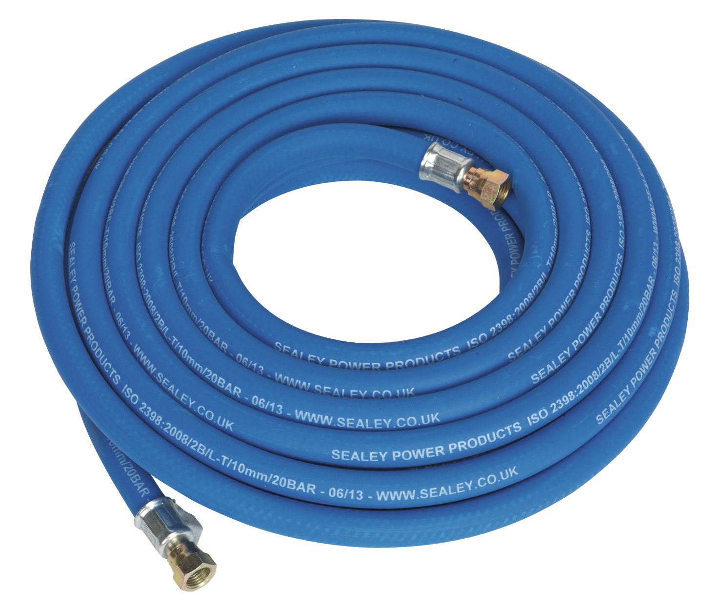 "Sealey Air Hose 10mm with 1/4""BSP Unions Extra Heavy-Duty"