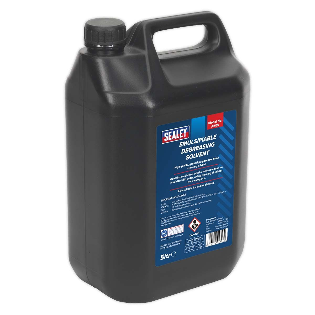 Sealey Degreasing Solvent Emulsifiable 5L