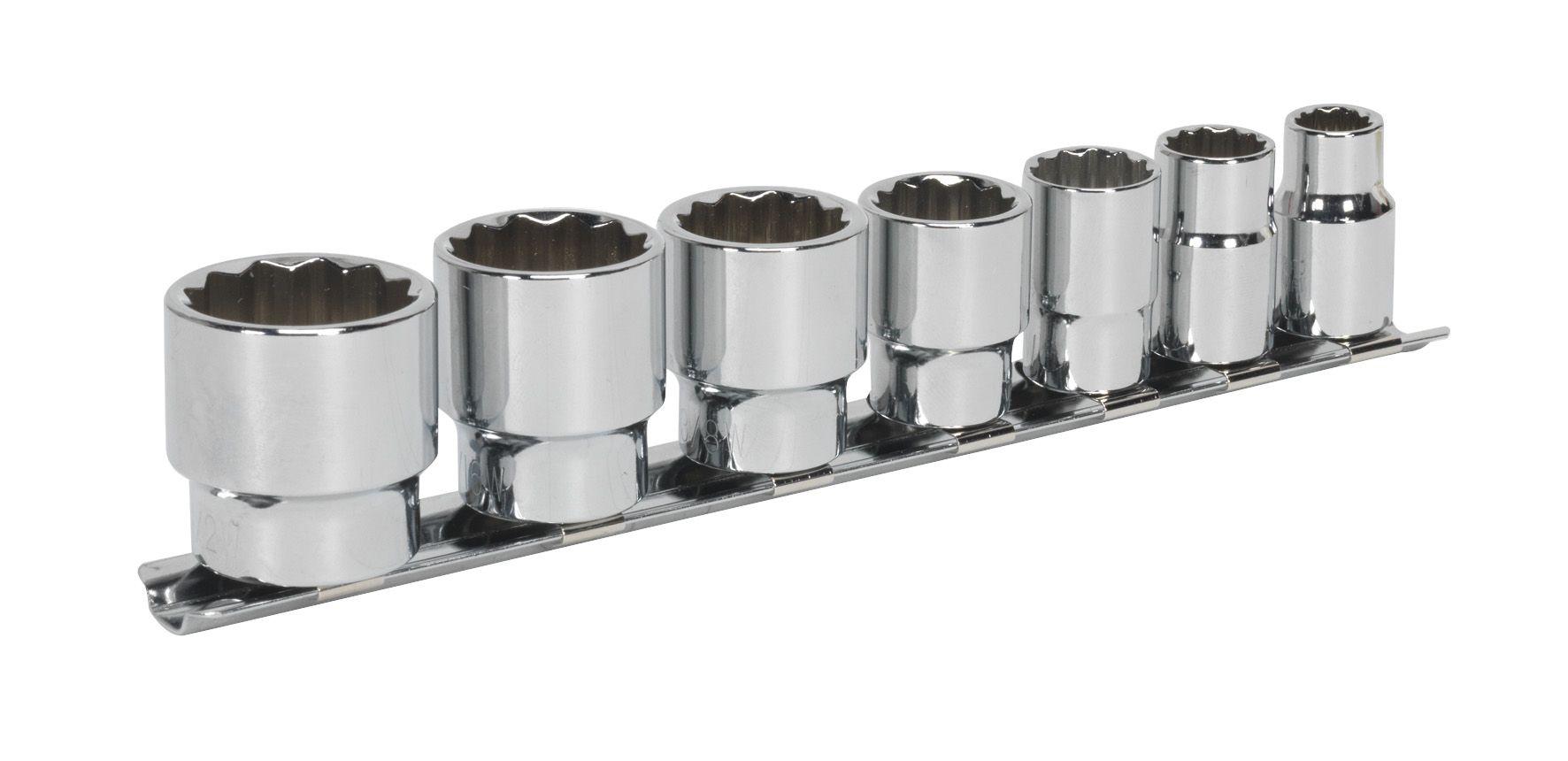 "Sealey Socket Set 7pc 3/8""Sq Drive Whitworth"